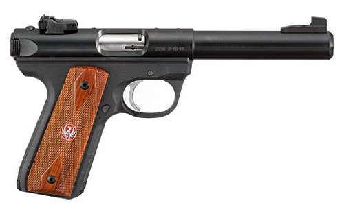 Ruger 22/45 Mark III Bull Barrel Wood Grips — Pistol Specs